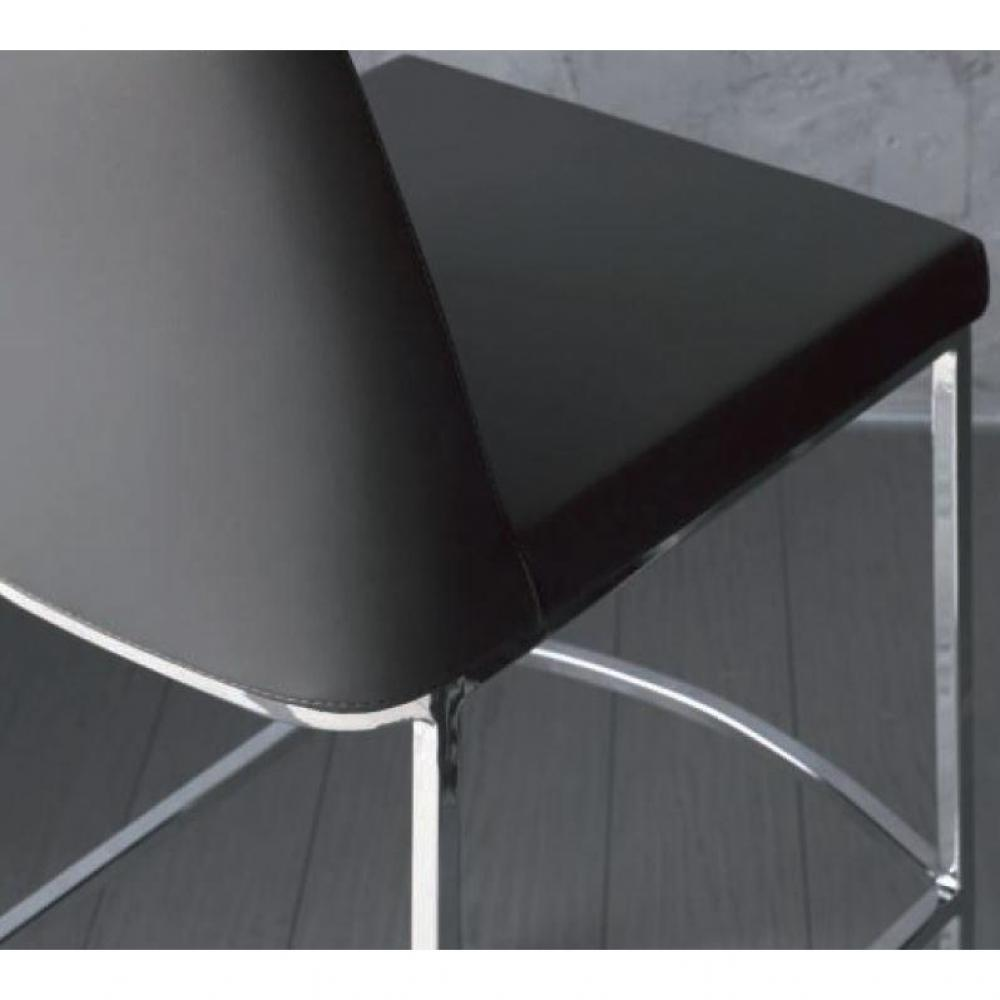 chaise de bar design tendance r tro au meilleur prix chaise de bar erik en cuir co gris. Black Bedroom Furniture Sets. Home Design Ideas