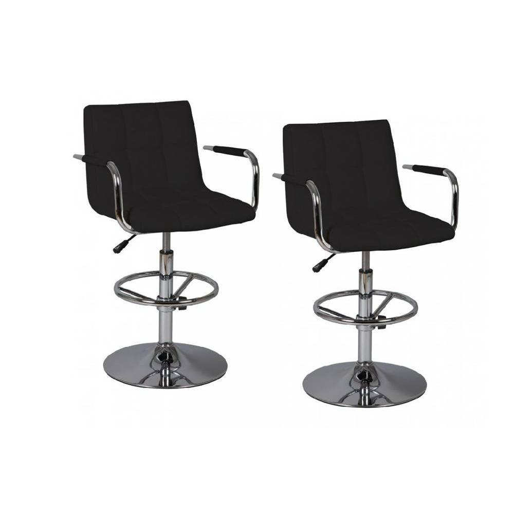 Lot de 2 chaises de Bar DIAMOND noires