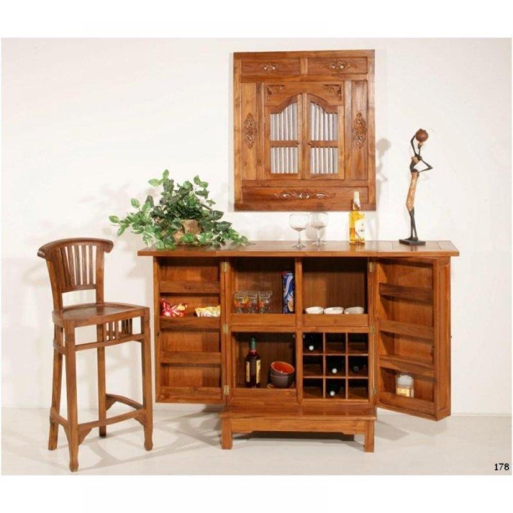 Chaise de bar design tendance r tro au meilleur prix for Chaise fer et bois