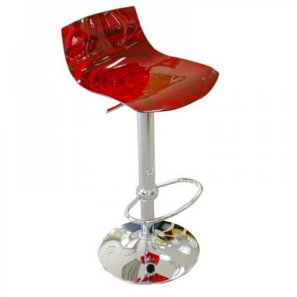 Chaise De Bar Design L Eau En Plexiglas Rouge Transparent