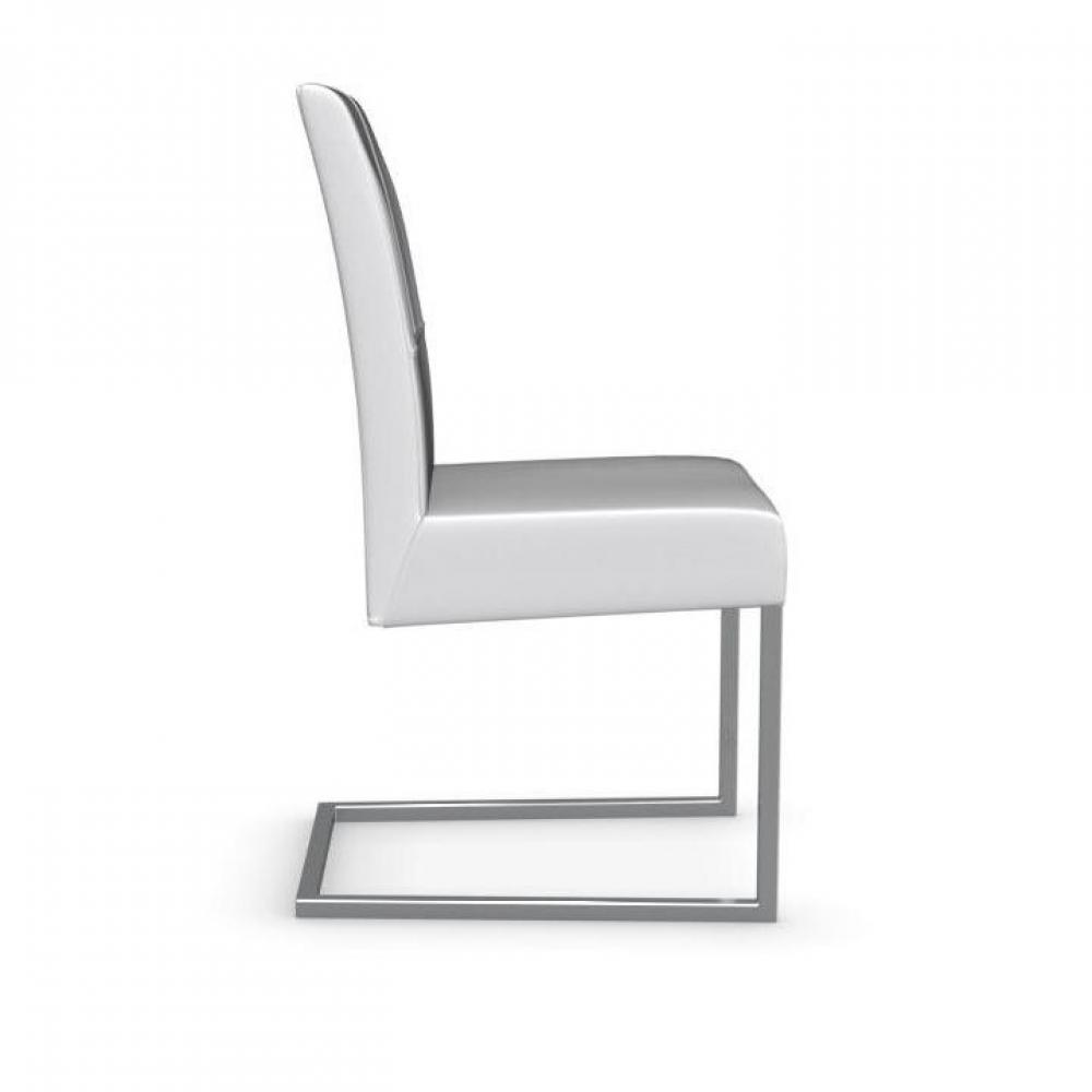 Chaise design ergonomique et stylis e au meilleur prix chaise berliner haut - Chaise en cuir blanc ...