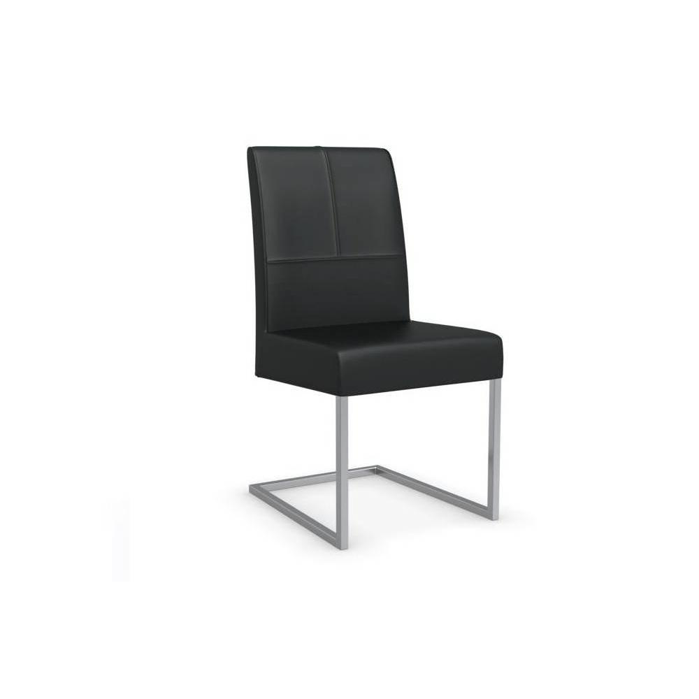 Chaise design ergonomique et stylis e au meilleur prix chaise berliner haut - Chaises en cuir noir ...