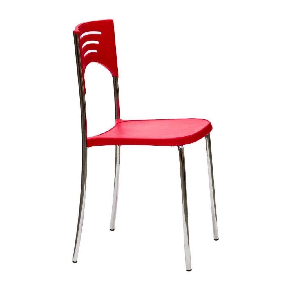 Chaise design ergonomique et stylis e au meilleur prix lot de 2 chaises brea - Chaises rouges design ...
