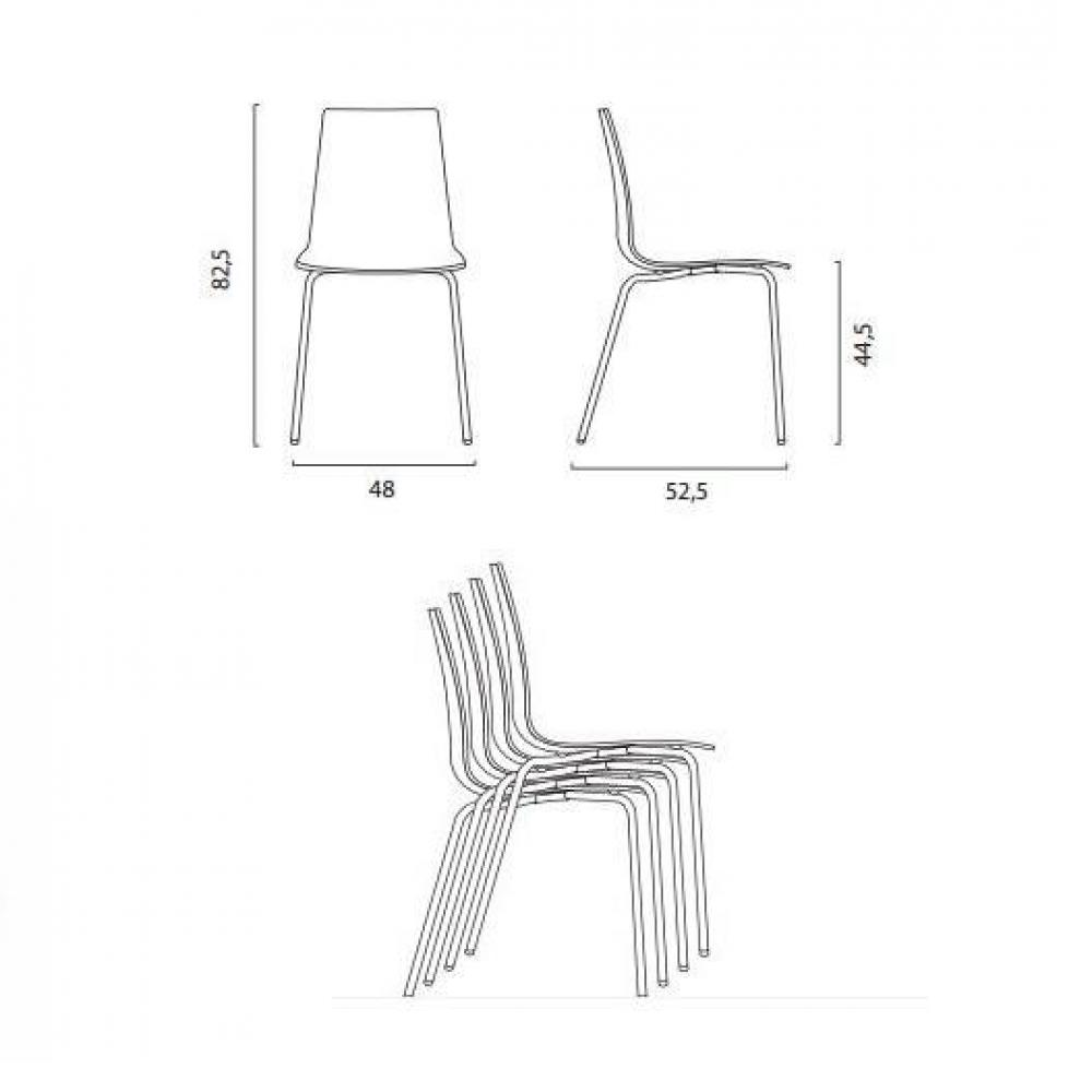Lot de 2 chaises CALIMA empilable design transparente