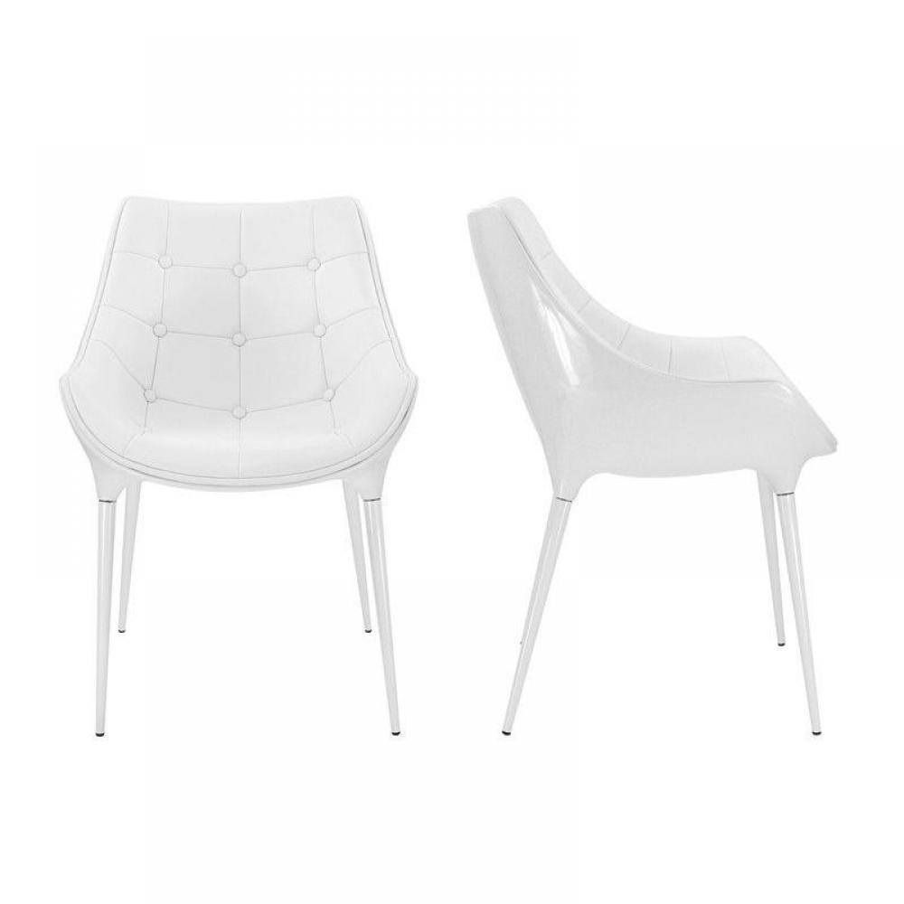 chaise design ergonomique et stylis e au meilleur prix lot de 2 chaises golf birdy blanche. Black Bedroom Furniture Sets. Home Design Ideas