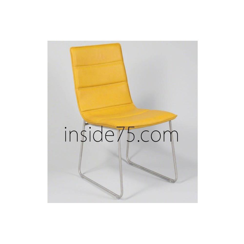 Chaise design ergonomique et stylis e au meilleur prix - Chaise de bureau jaune ...