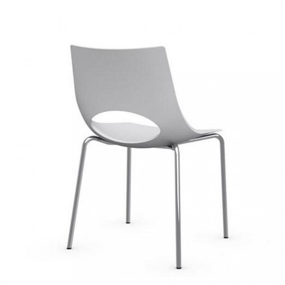 Chaise design ergonomique et stylis e au meilleur prix for Chaise blanche solde