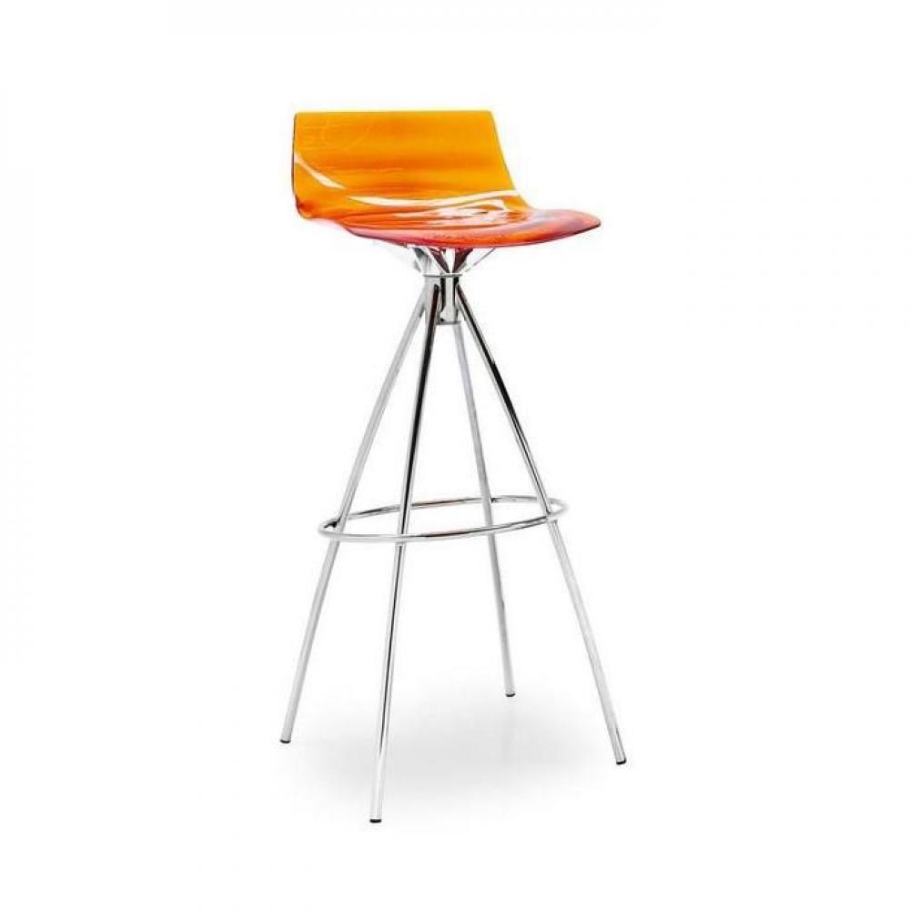 Chaise design ergonomique et stylis e au meilleur prix calligaris calligaris - Chaise de bar transparente ...