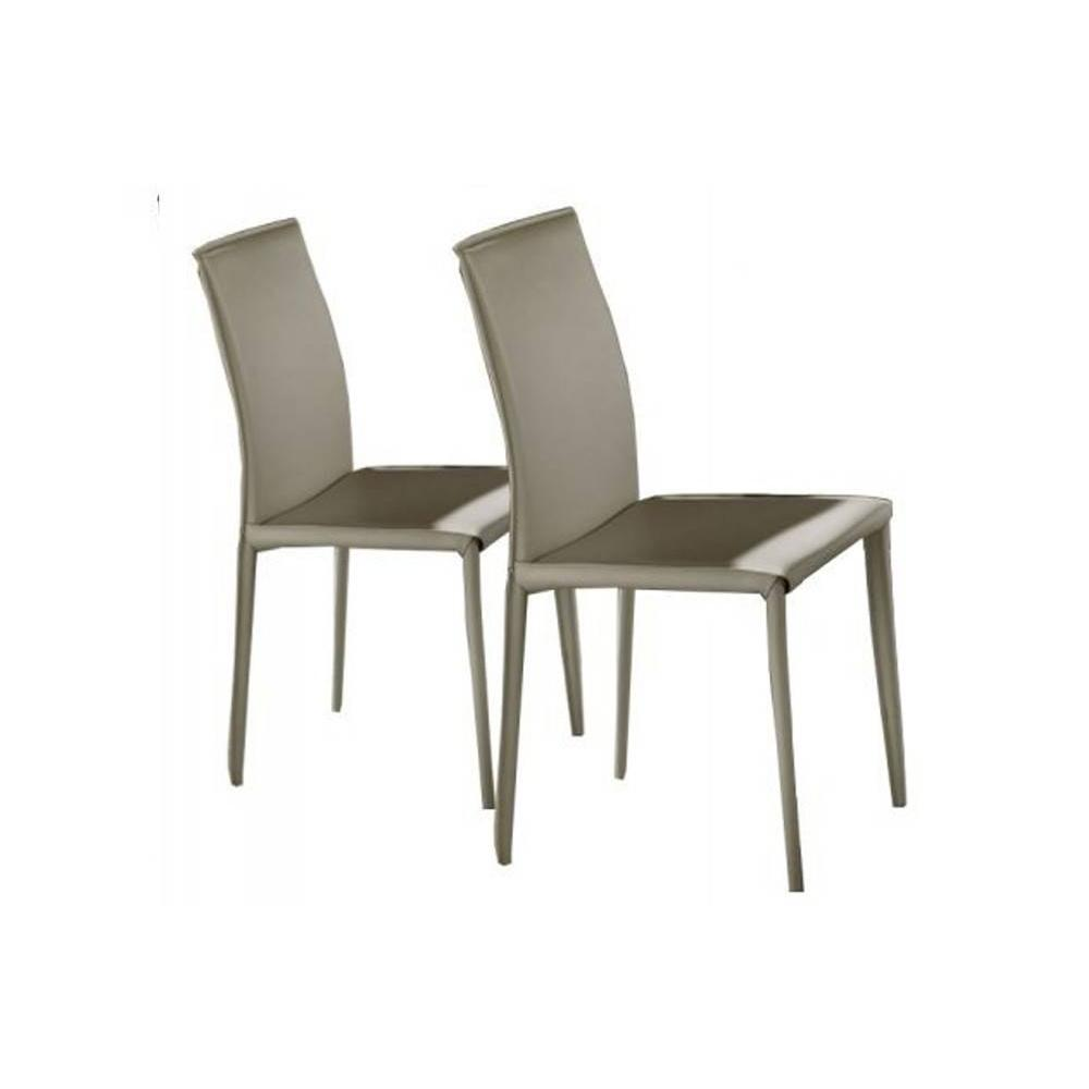 Chaise cuir taupe cliquez ici with chaise cuir taupe for Chaise cuisine originale