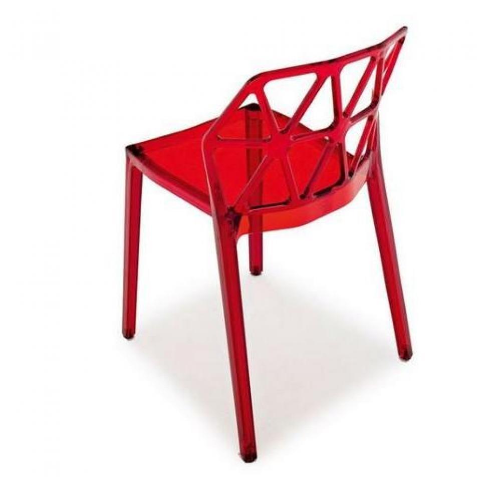 Chaise design ergonomique et stylis e au meilleur prix calligaris chaise des - Chaise en verre transparente ...