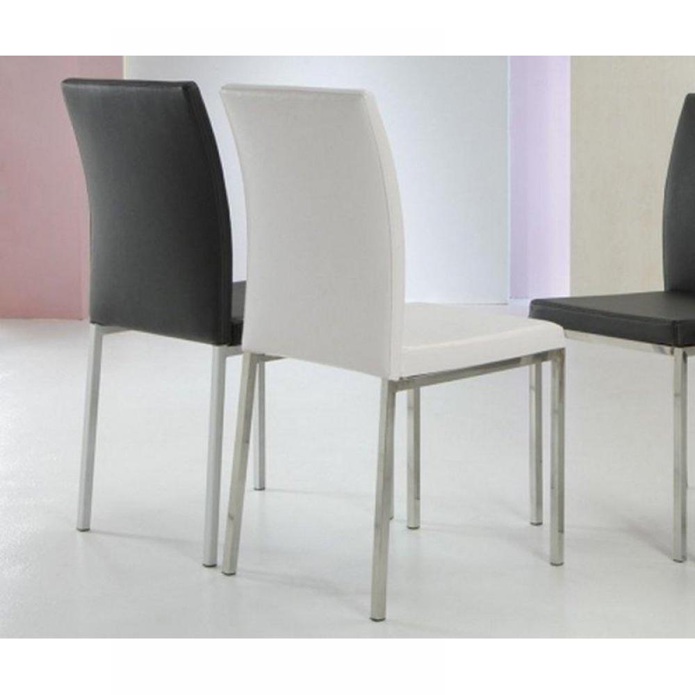 Chaise design ergonomique et stylis e au meilleur prix lot de 2 chaises desi - Chaise cuir noir design ...