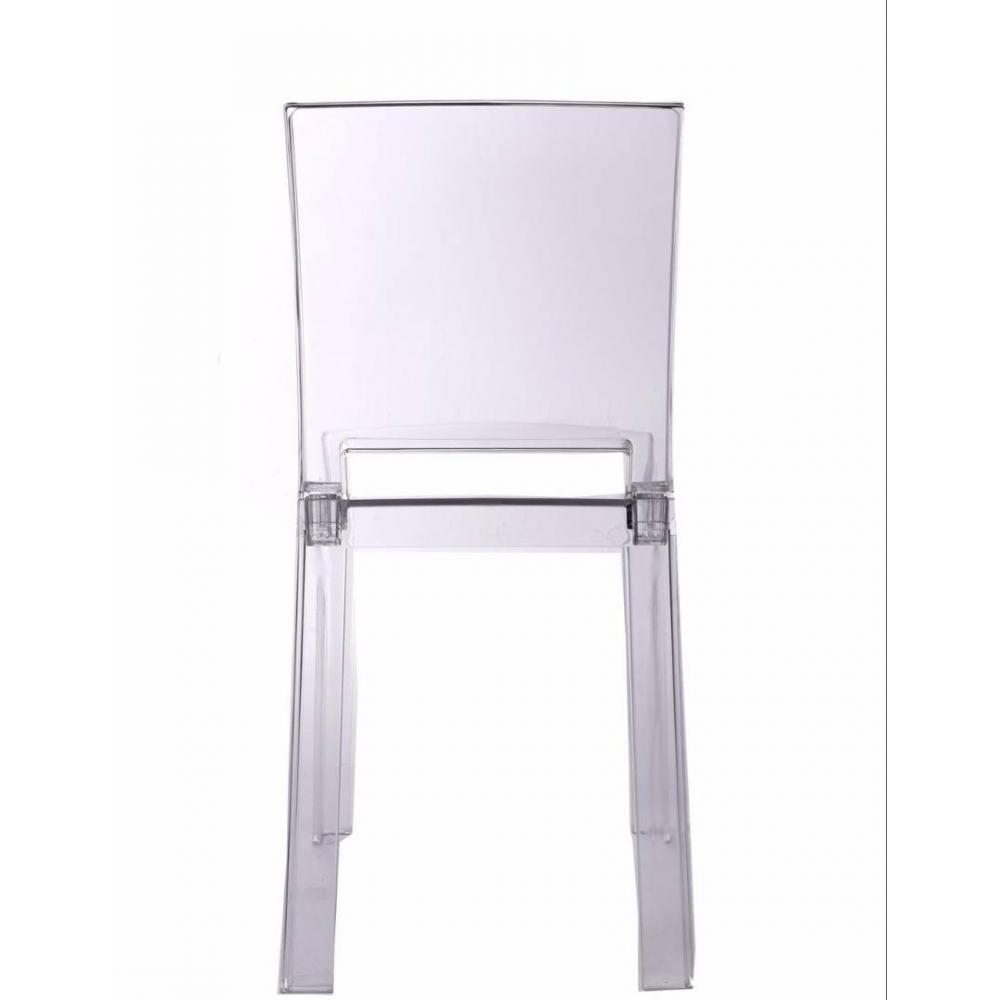 chaises empilables design au meilleur prix chaise design futura en polycarbonate transparent. Black Bedroom Furniture Sets. Home Design Ideas