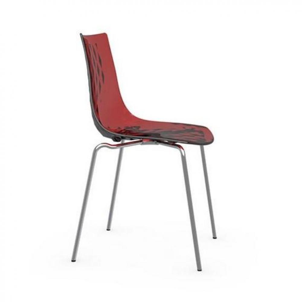 Chaise design ergonomique et stylis e au meilleur prix chaise design ice rou - Chaises rouges design ...