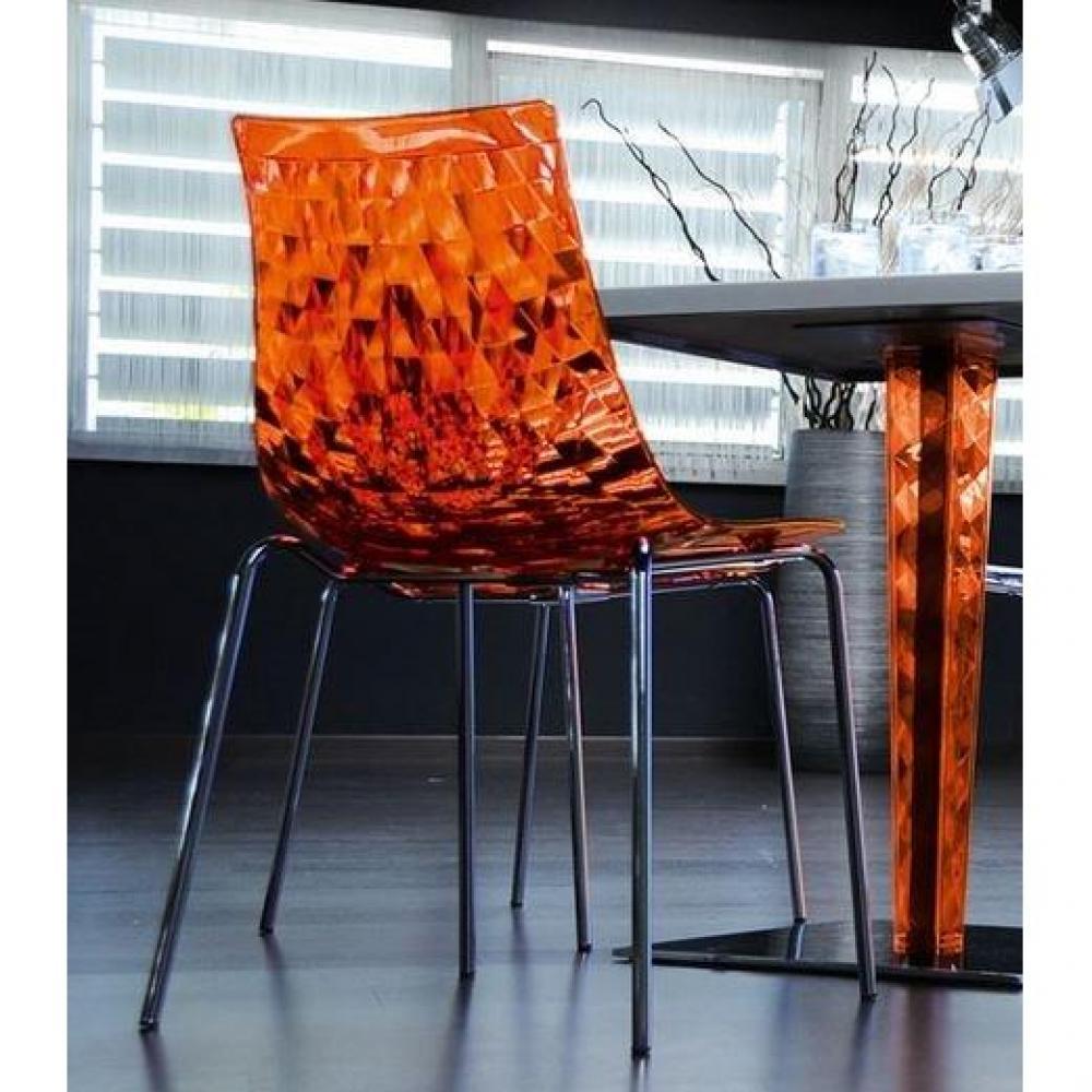 Chaise Design ICE De CALLIGARIS Orange
