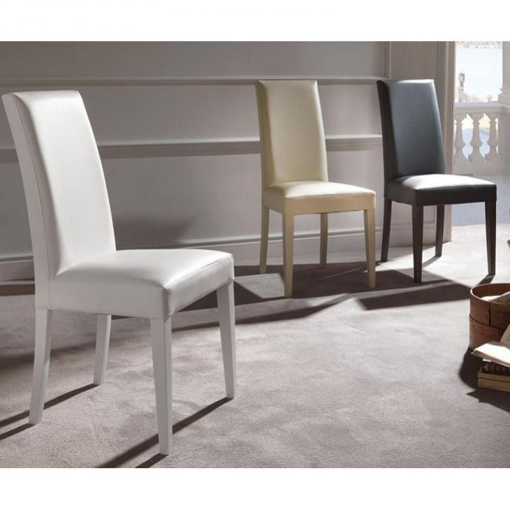 Lot De 2 Chaises Design Italienne VERTIGO LUX Revtement Polyurthane Faon Cuir