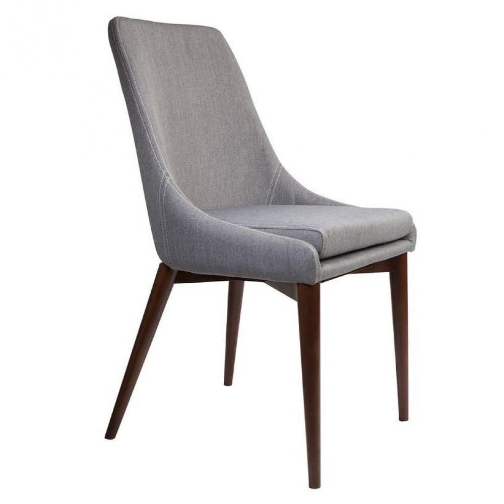 dutchbone chaise juju tissu gris coutures sellier - Chaise En Tissu Gris