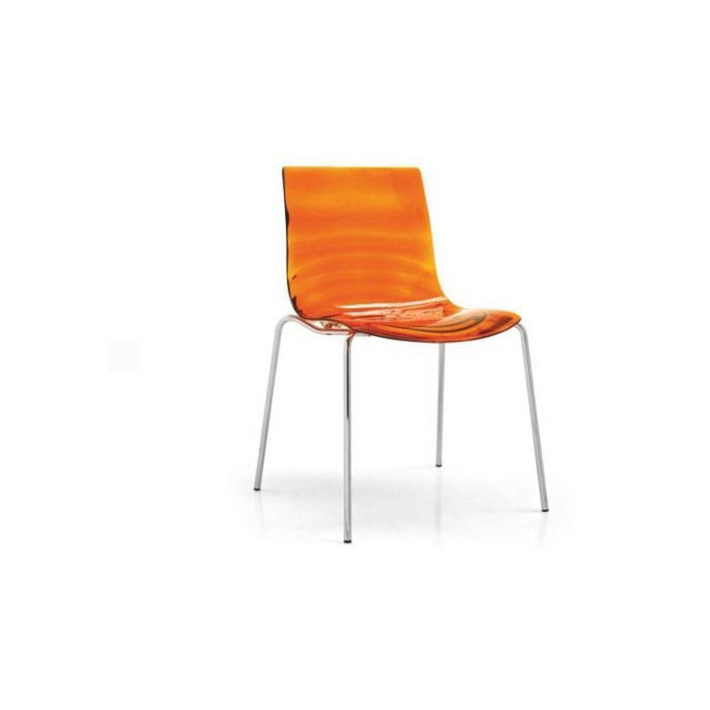chaise design ergonomique et stylis e au meilleur prix chaise design l 39 eau orange transparente. Black Bedroom Furniture Sets. Home Design Ideas