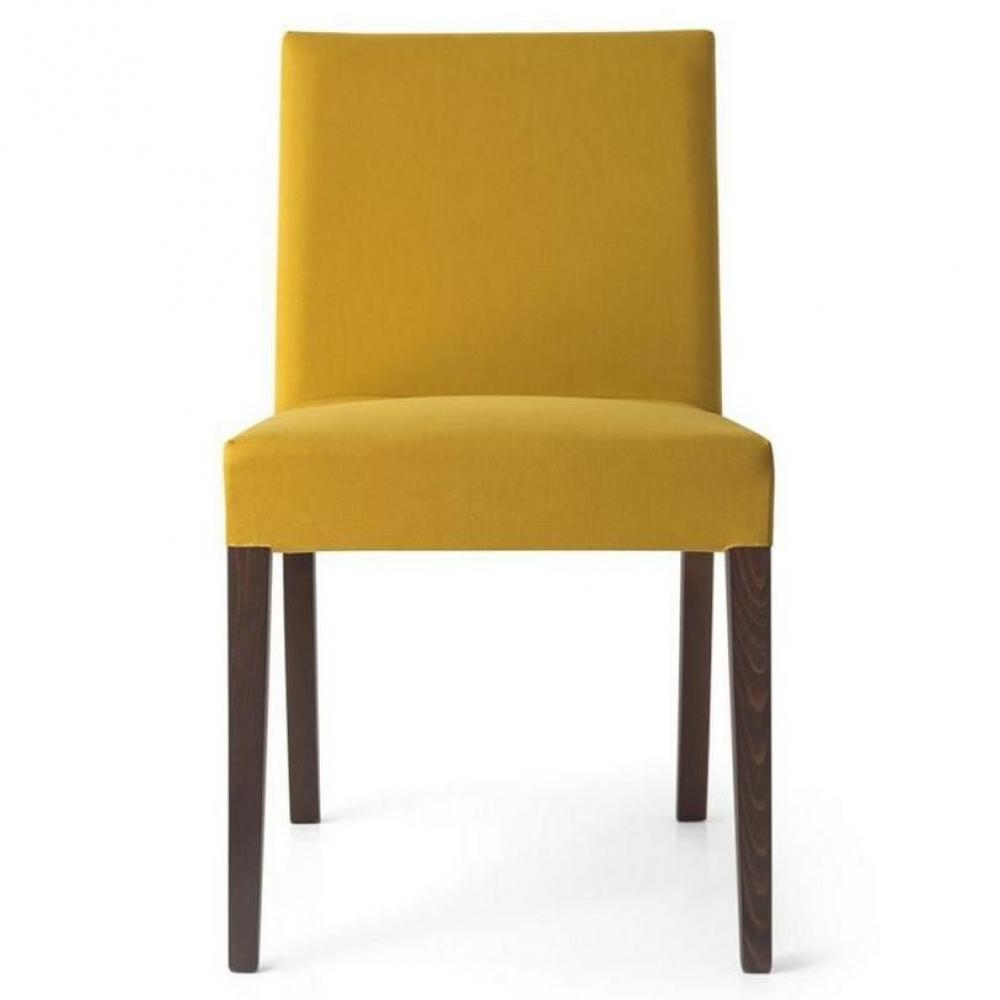 Chaise jaune moutarde for Chaise jaune design