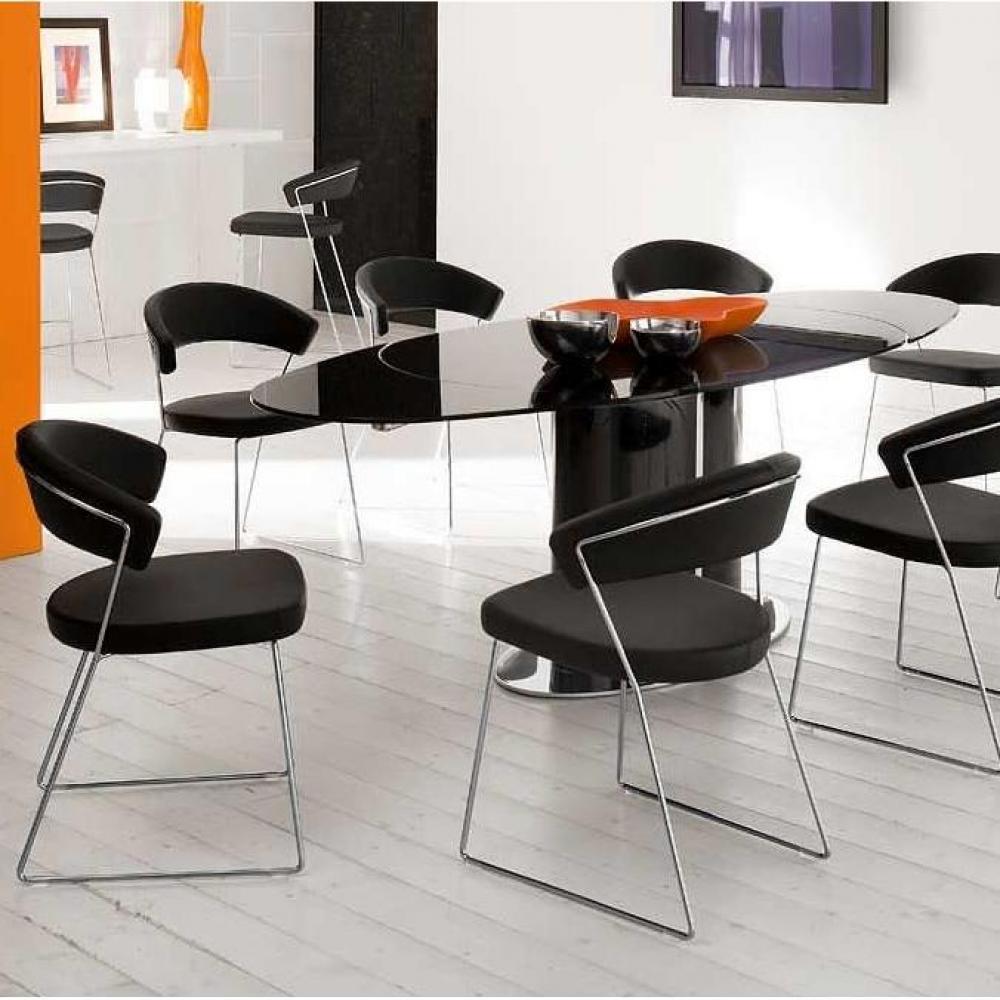 Chaise design ergonomique et stylis e au meilleur prix calligaris chaise new - Chaise design cuir noir ...