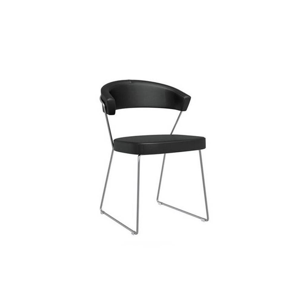 Chaise design ergonomique et stylis e au meilleur prix chaise new york desig - Chaise design cuir noir ...