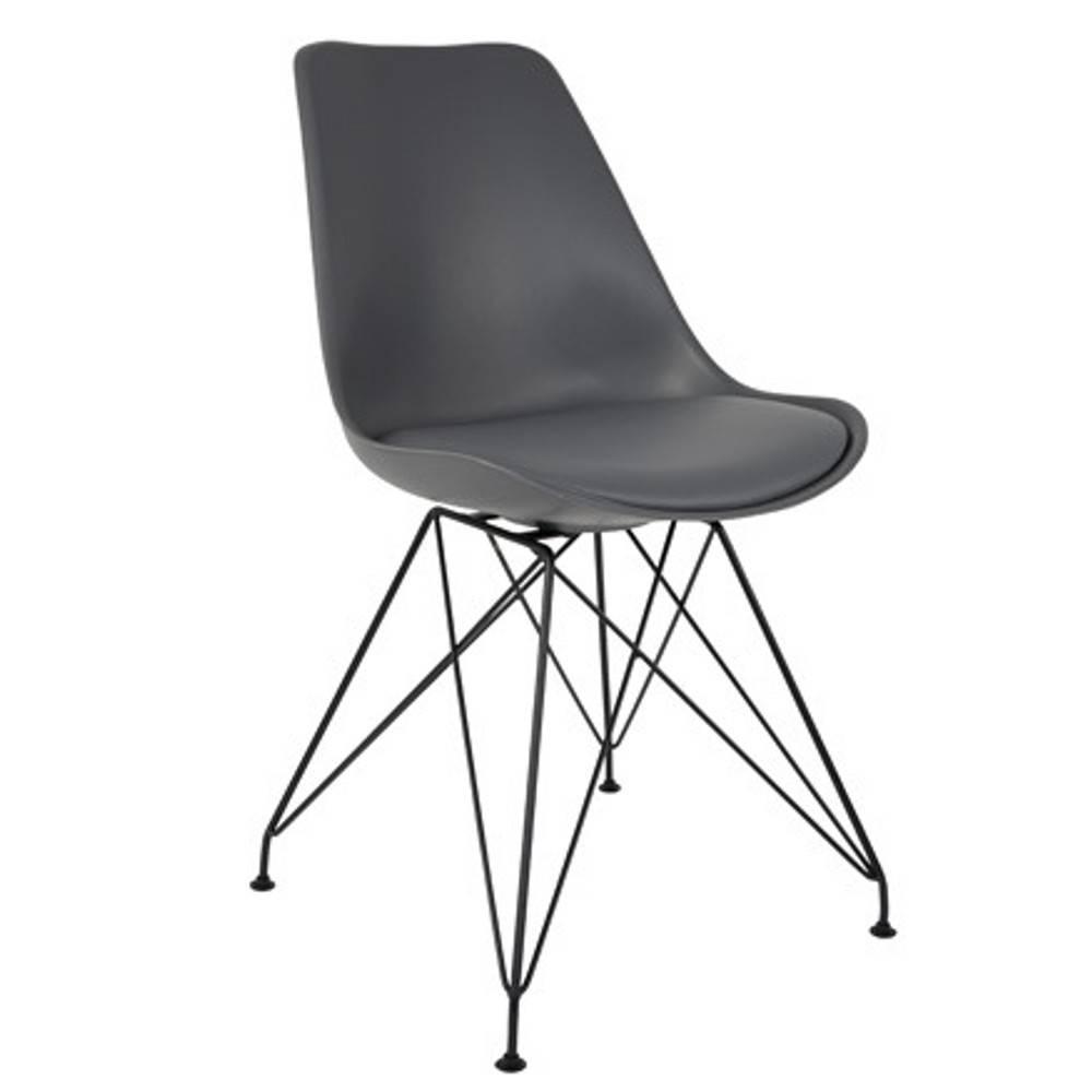 chaise design ergonomique et stylis e au meilleur prix chaise ozzy grise design scandinave. Black Bedroom Furniture Sets. Home Design Ideas