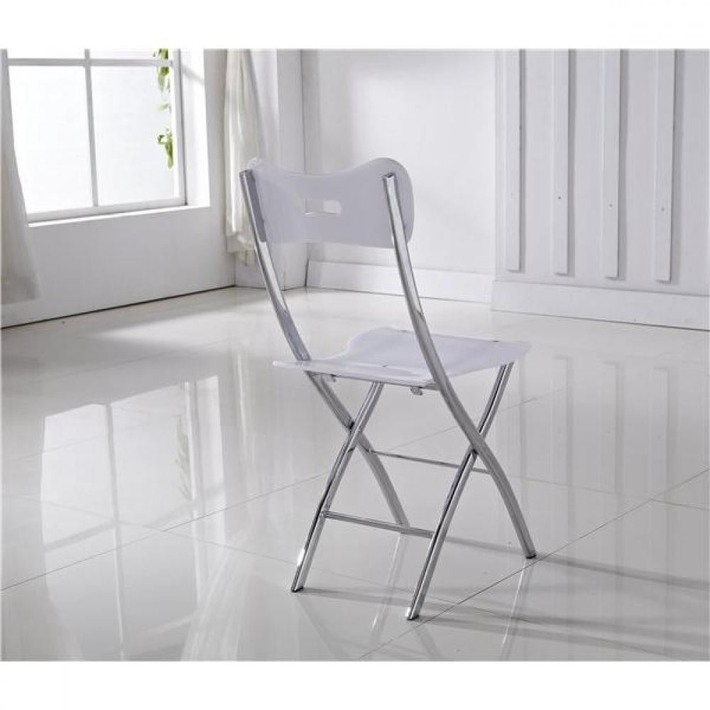 Lot de 2 chaises WIDOW design en plexiglas blanche.