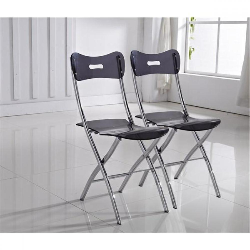chaises pliantes design au meilleur prix lot de 2 chaises widow design en plexiglas transparent. Black Bedroom Furniture Sets. Home Design Ideas