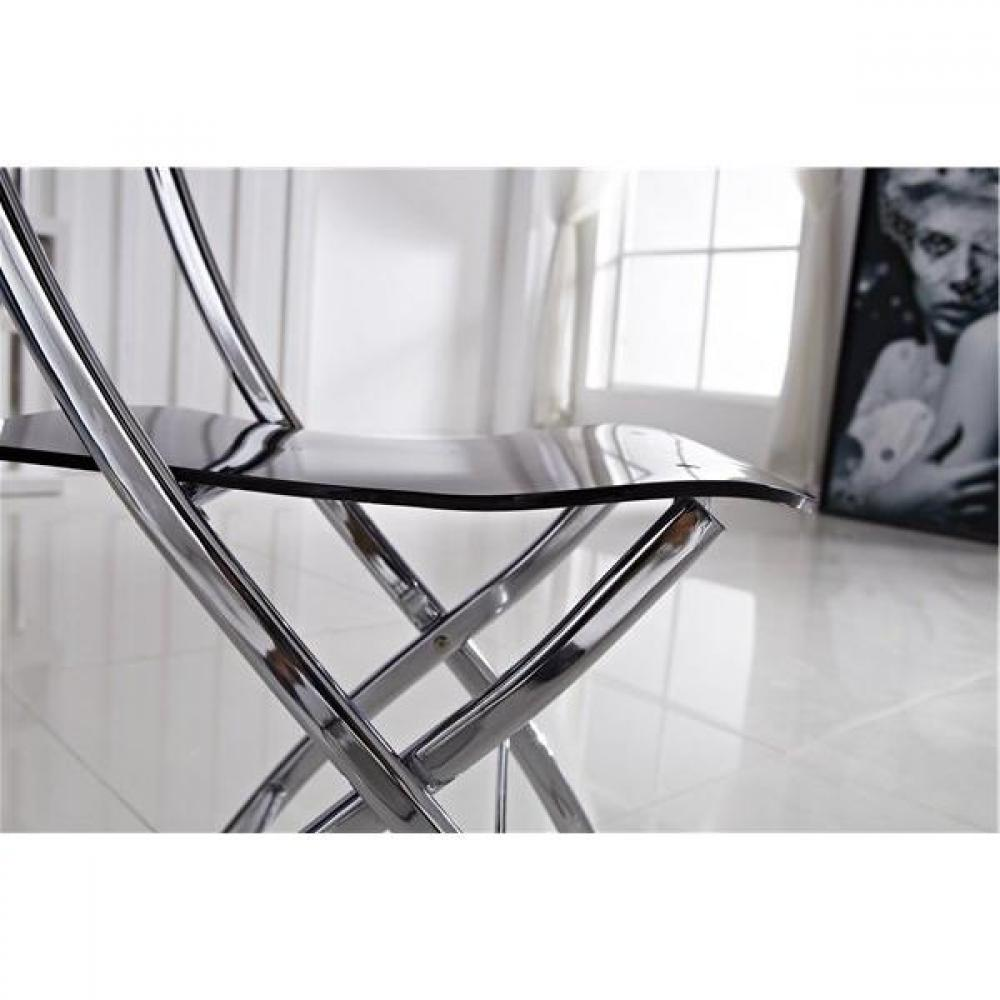 Chaises pliantes design au meilleur prix lot de 2 chaises widow design en plexiglas transparent - Chaise plexiglass transparente ...