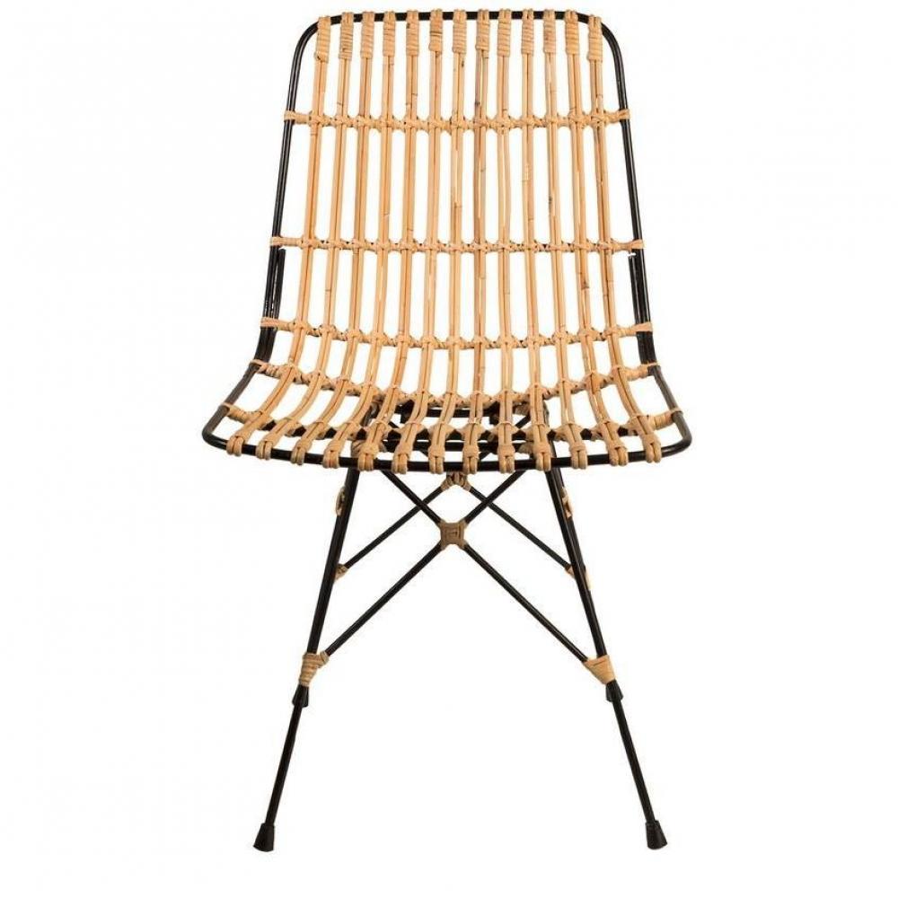 Chaise design ergonomique et stylis e au meilleur prix for Chaise rotin et fer