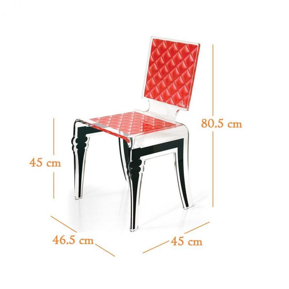 chaise design ergonomique et stylis e au meilleur prix diam chaise design en plexi rouge par. Black Bedroom Furniture Sets. Home Design Ideas