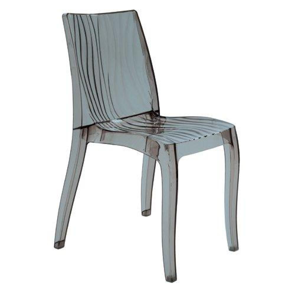 chaise design ergonomique et stylis e au meilleur prix chaise design dune en plexiglas fum de. Black Bedroom Furniture Sets. Home Design Ideas