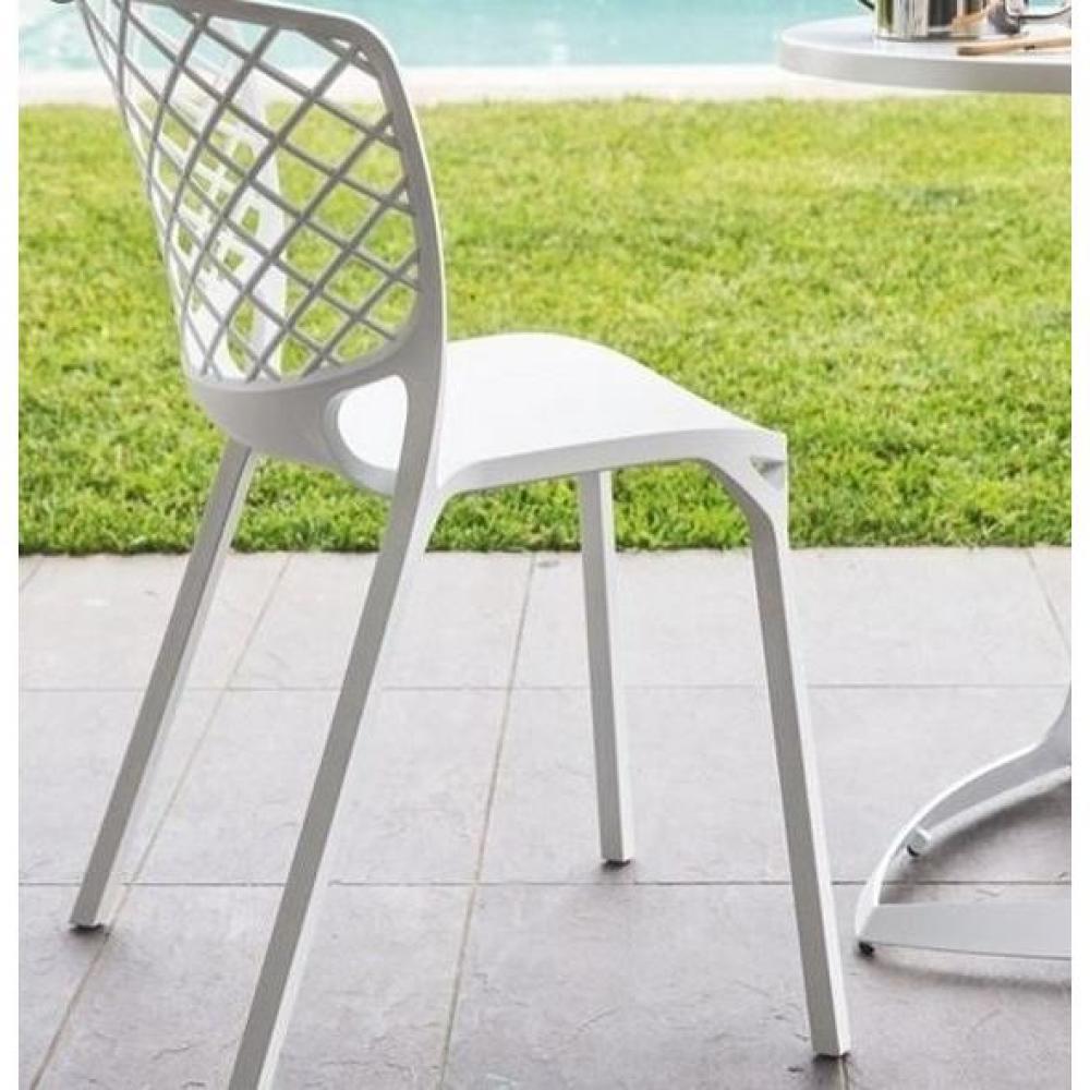 Lot de 2 chaises empilable GAMERA  blanche