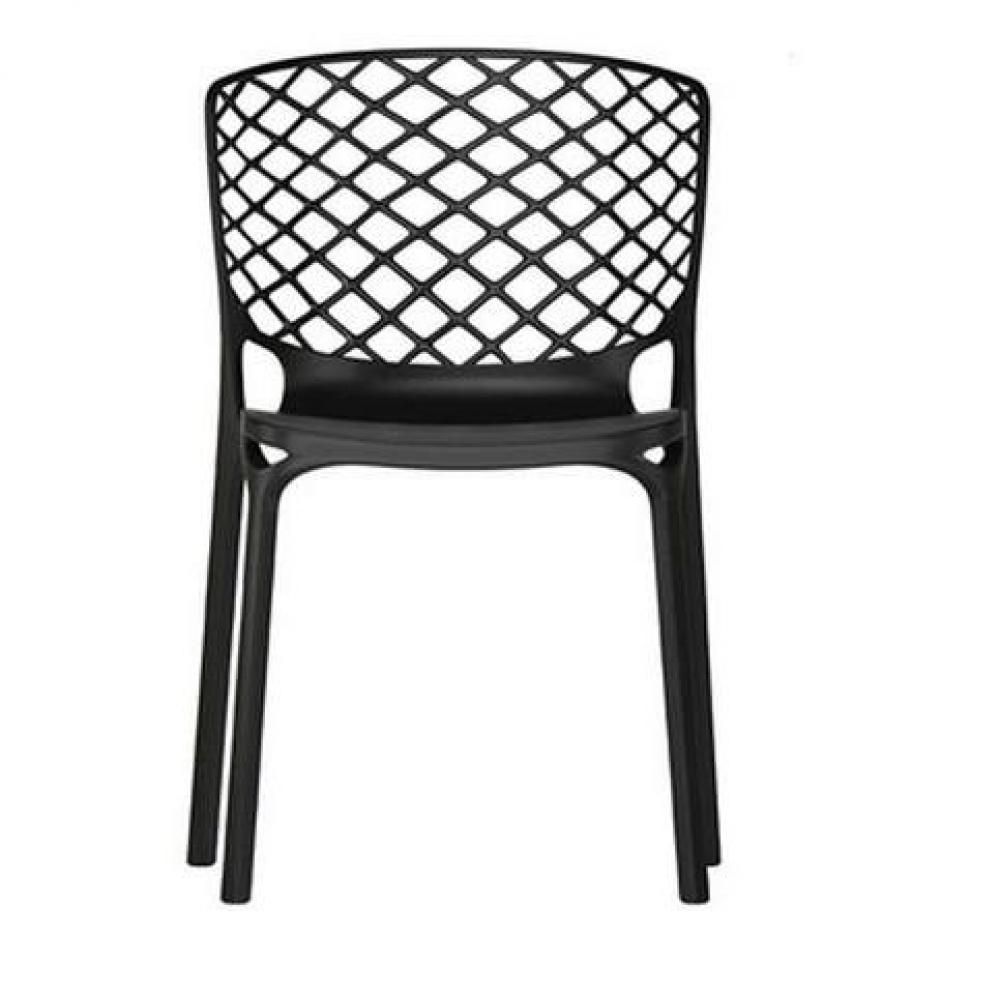 Lot de 2 chaises empilable GAMERA  noire