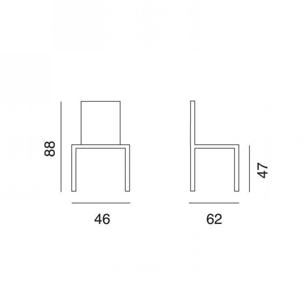 Lot de 2 chaises TOSCANE polyuréthane façon cuir sable piétement acier chromé