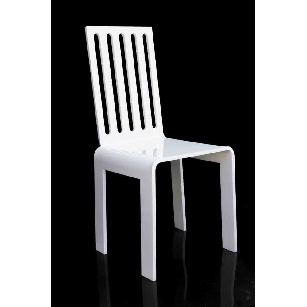 chaise design ergonomique et stylis e au meilleur prix barreau chaise en plexi blanc par acrila. Black Bedroom Furniture Sets. Home Design Ideas