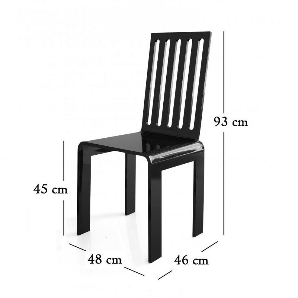 chaise design ergonomique et stylis e au meilleur prix barreau chaise en plexi noir par acrila. Black Bedroom Furniture Sets. Home Design Ideas
