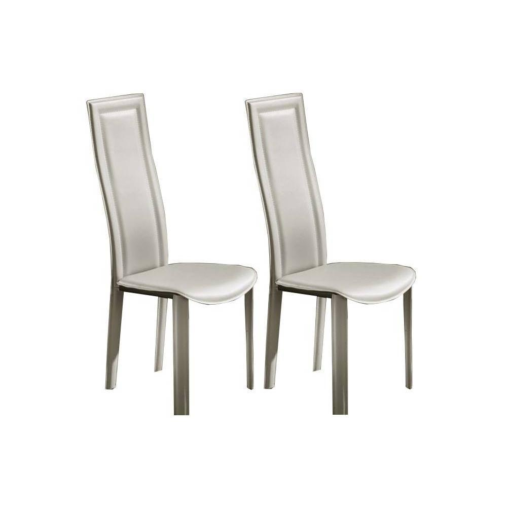 Lot De 2 Chaises BOND Revtement Polyurthane Faon Cuir