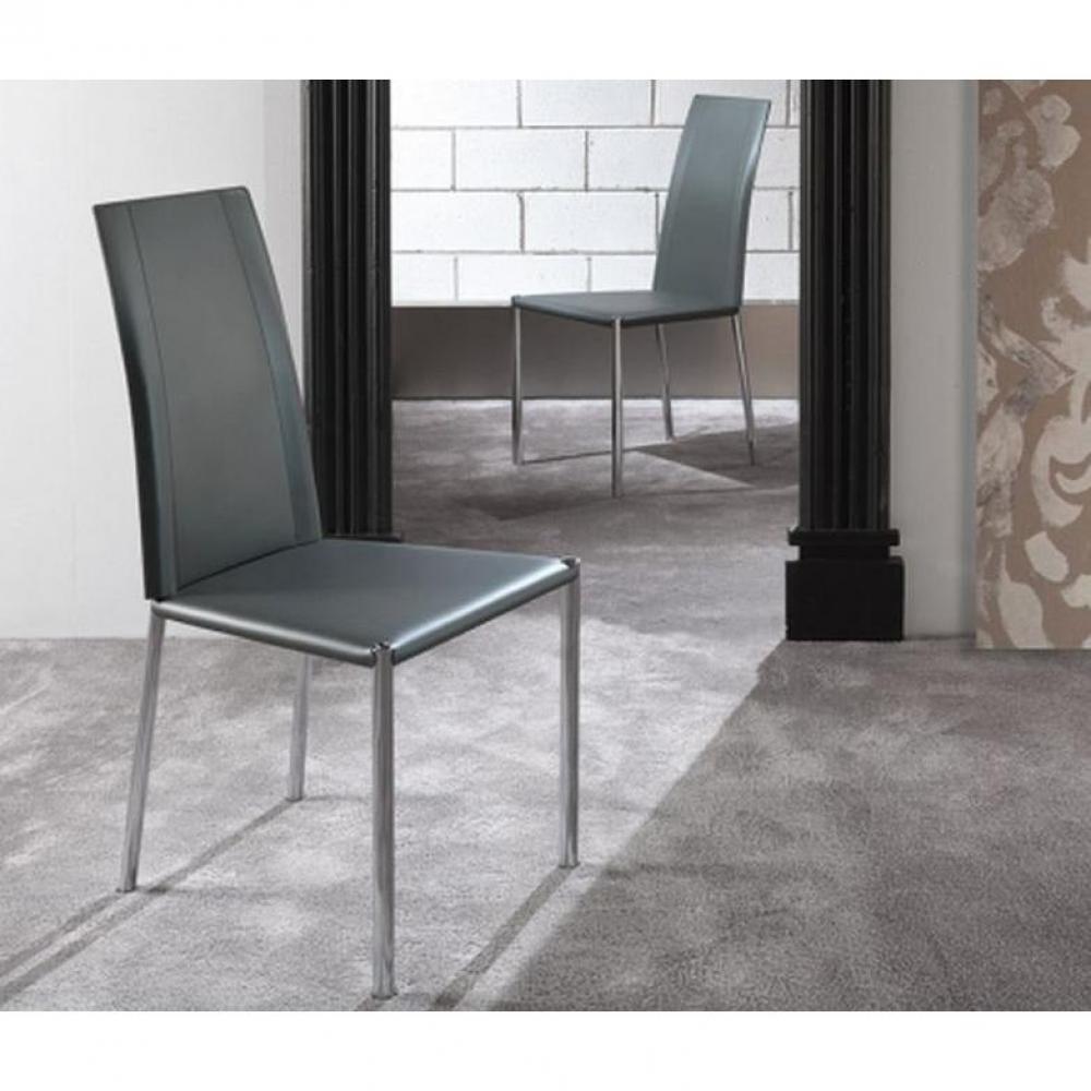 Chaise design ergonomique et stylis e au meilleur prix chaise laser en tissu - Chaise simili cuir gris ...