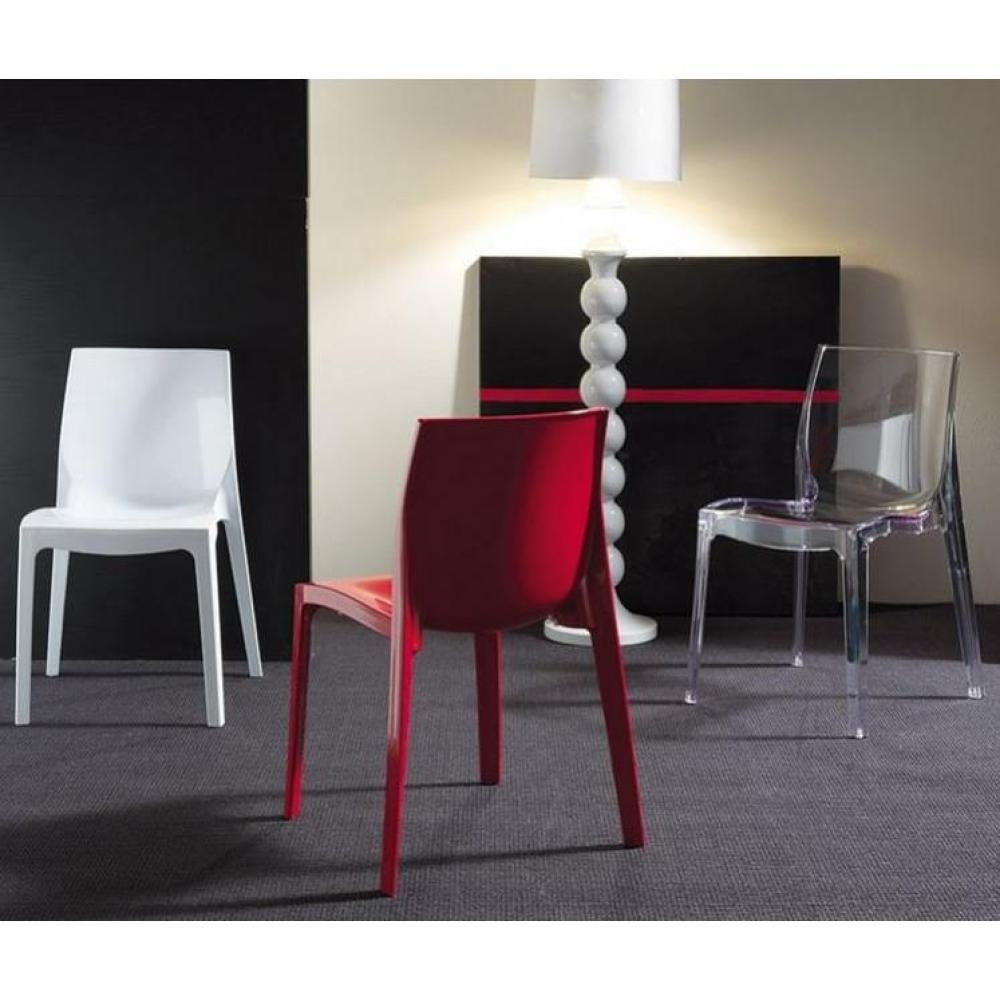 chaises meubles et rangements chaise haute gamme falena rouge brillante inside75. Black Bedroom Furniture Sets. Home Design Ideas