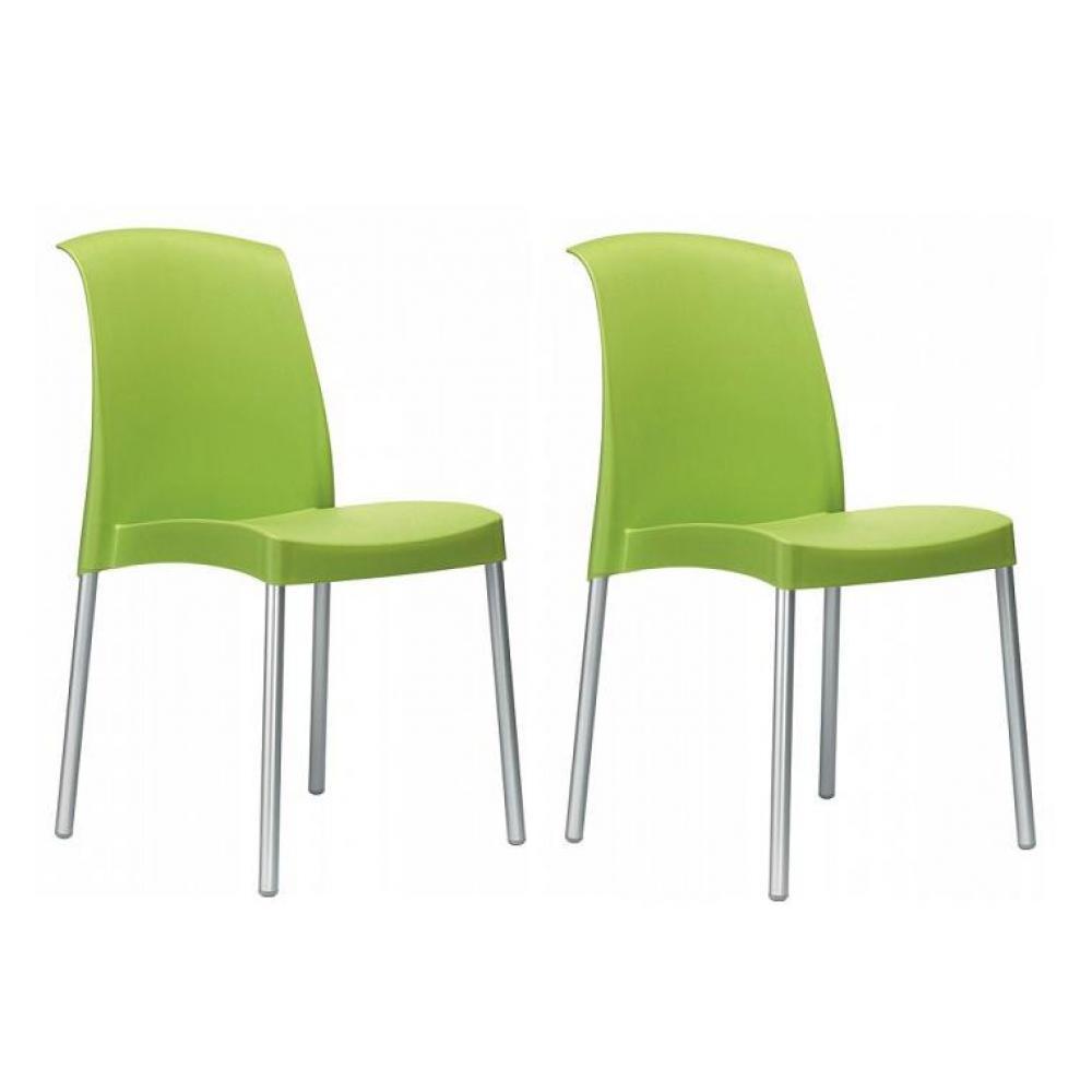 Chaise design ergonomique et stylis e au meilleur prix lot de 2 chaises jane - Chaises empilables design ...