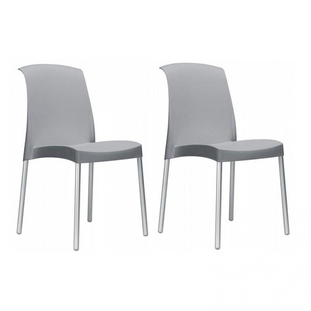chaise de jardin design confortable au meilleur prix lot de 2 chaises jane design vert inside75. Black Bedroom Furniture Sets. Home Design Ideas