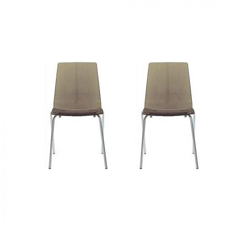 chaise acier design chaise design en acier chrome simili cuir marron viano with chaise acier. Black Bedroom Furniture Sets. Home Design Ideas