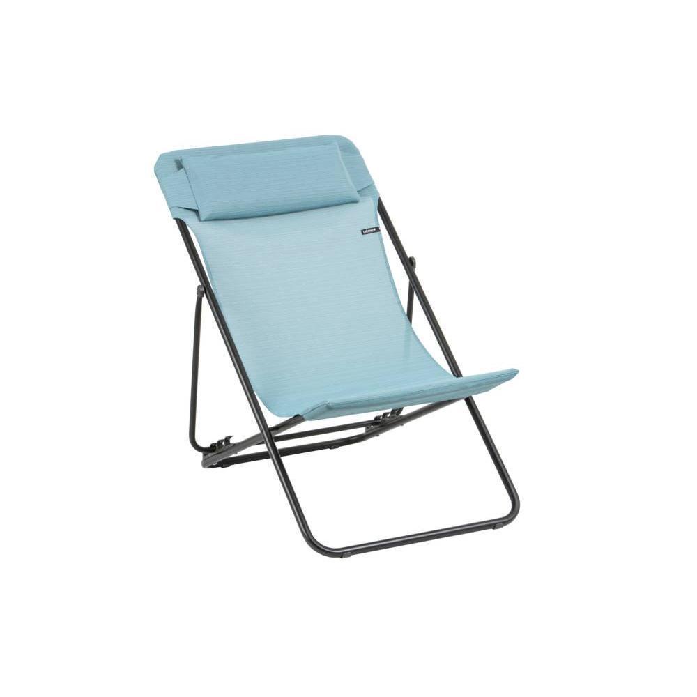 Chaise longue de jardin transat bain de soleil au for Transat et chaise longue