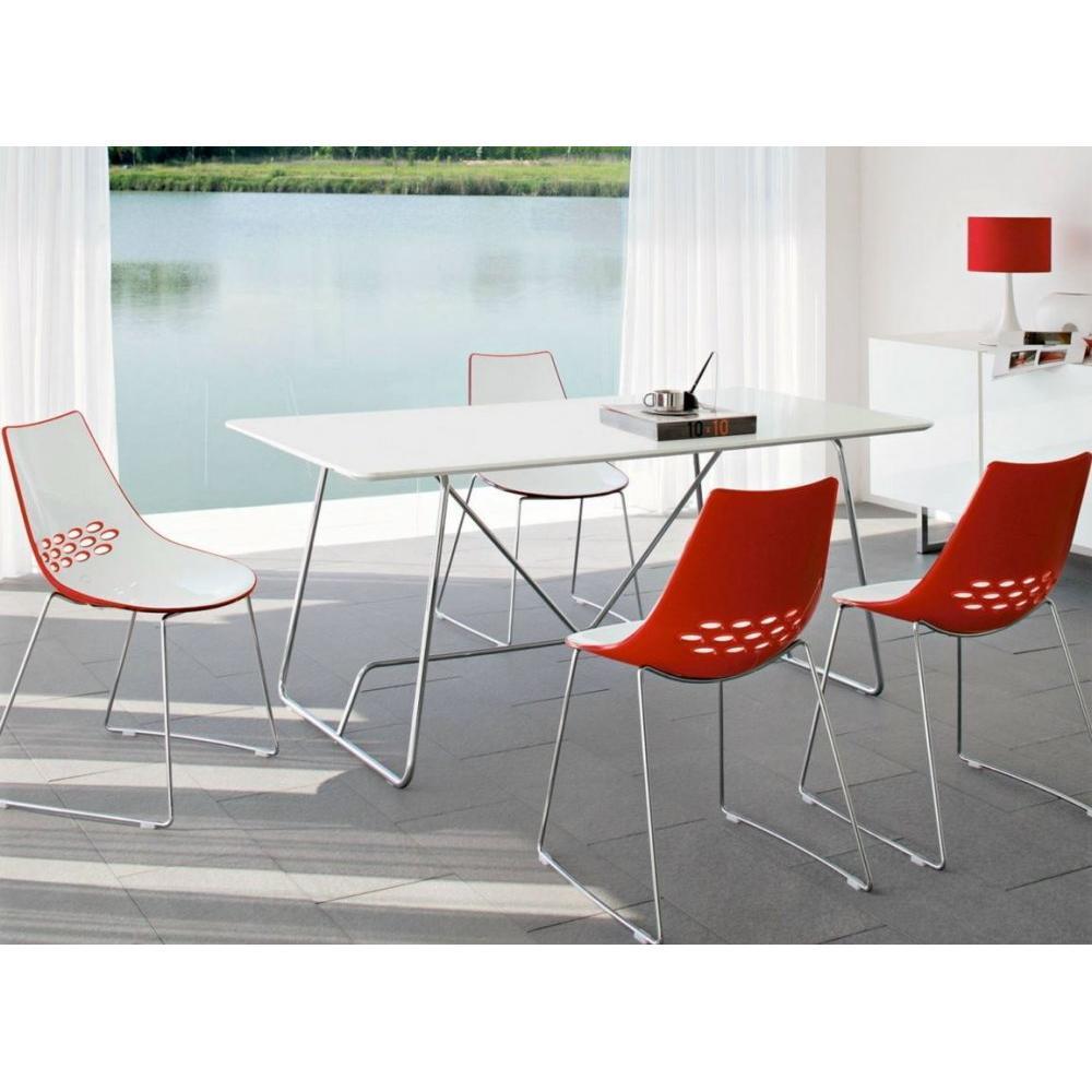 Chaise design ergonomique et stylis e au meilleur prix chaise design jam pi - Chaise rouge transparente ...