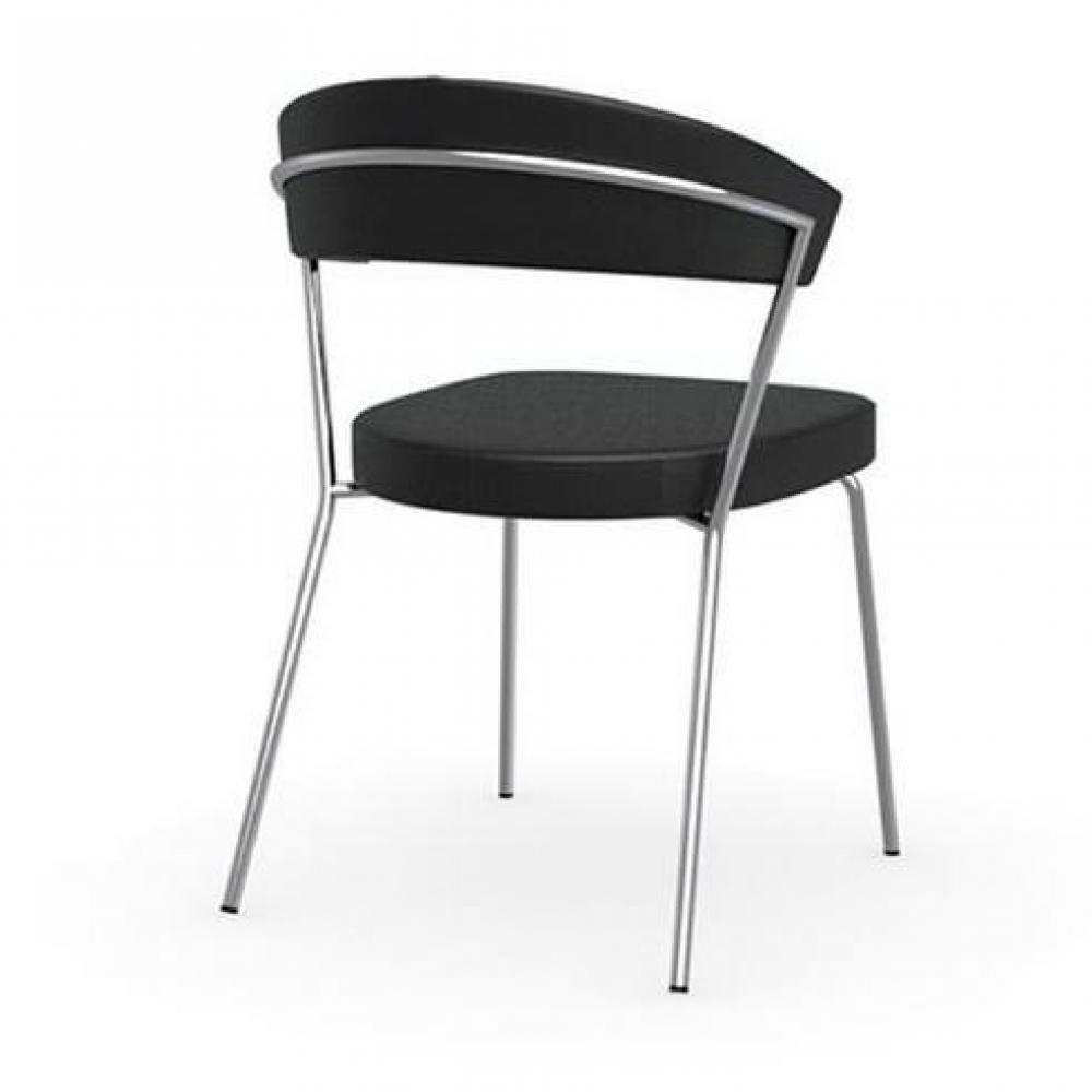 Chaise design ergonomique et stylis e au meilleur prix - Chaise simili cuir noir ...