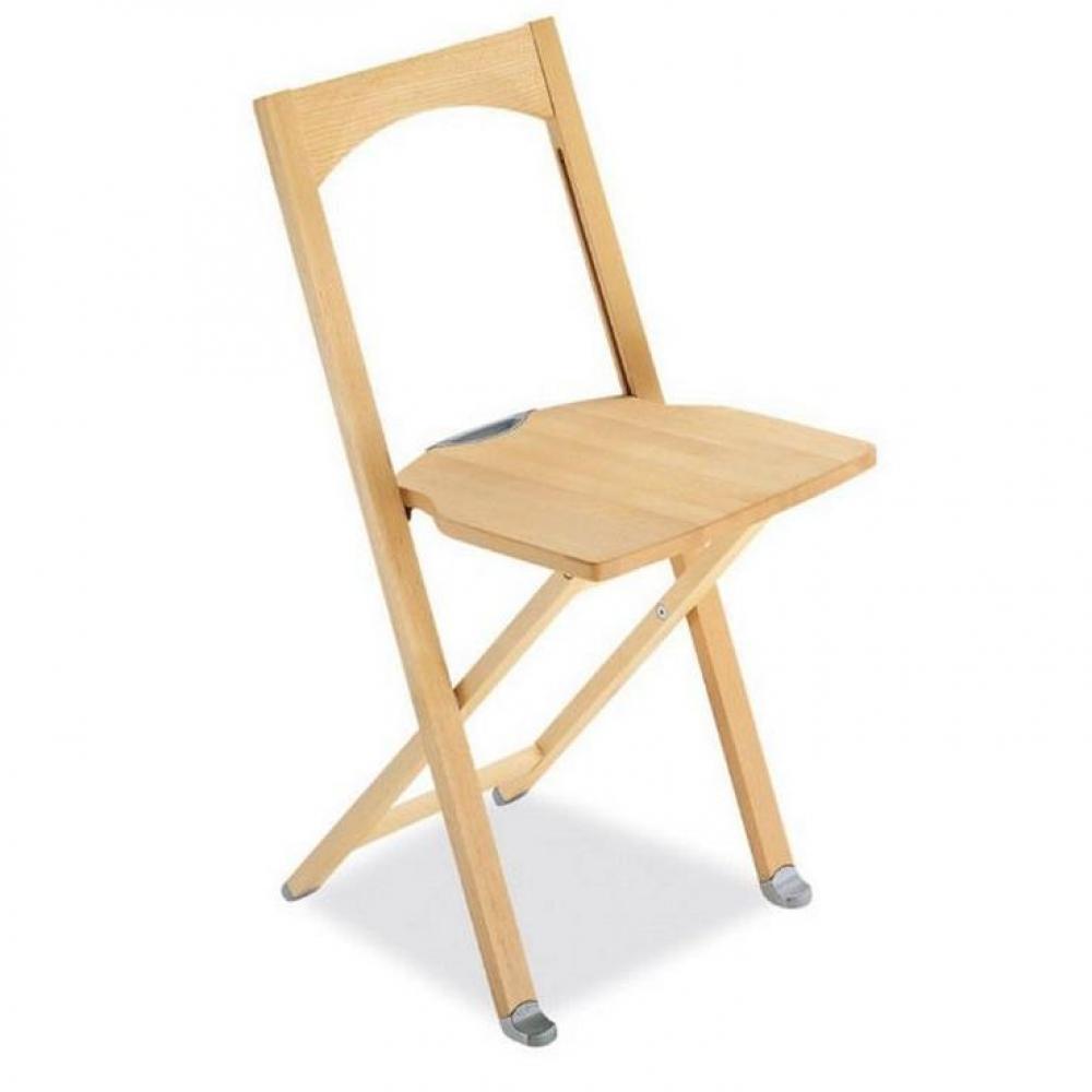 Chaise pliante OLIVIA en hêtre naturel