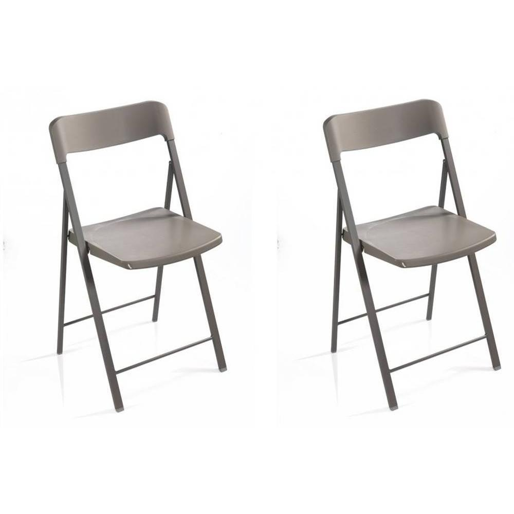 Lot de 2 chaises pliantes KULLY