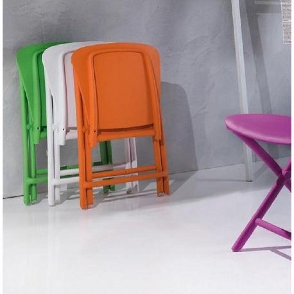 chaises pliantes design au meilleur prix lot de 2 chaises pliantes zak design orange inside75. Black Bedroom Furniture Sets. Home Design Ideas