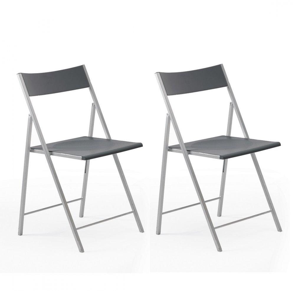 Chaises pliantes design au meilleur prix, Lot de 2 chaises
