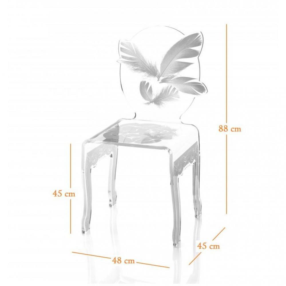 Chaise design ergonomique et stylis e au meilleur prix for Chaise en plexi